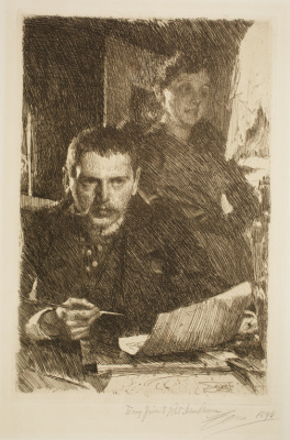 Anders Zorn. Anders Zorn and his wife