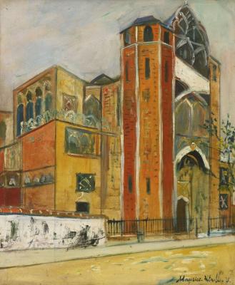 Морис Утрилло. Церковь Сен-Жан-де-Монмартр