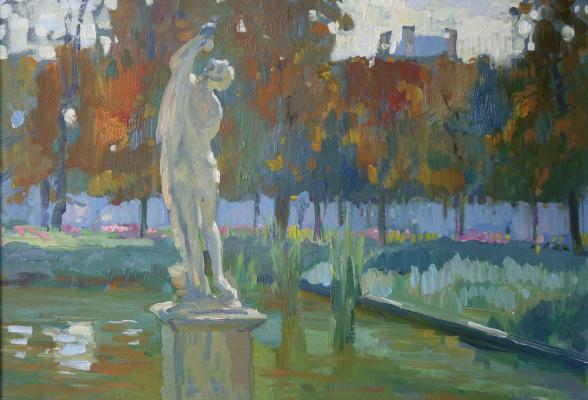 Ljubov Belych. In the Tuileries