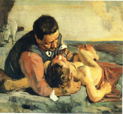 Ferdinand Hodler. Good Samaritan