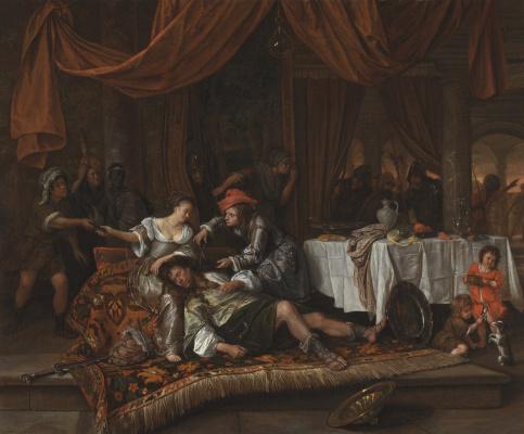 Jan Steen. Samson and Delilah