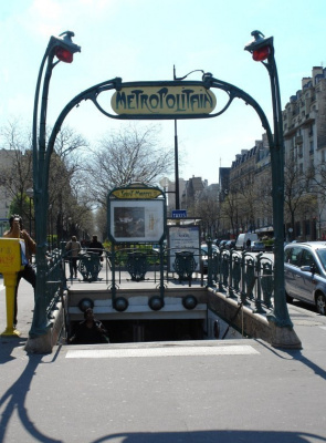 Hector Guimard. Entrance to the Saint-Marcel metro station, Paris