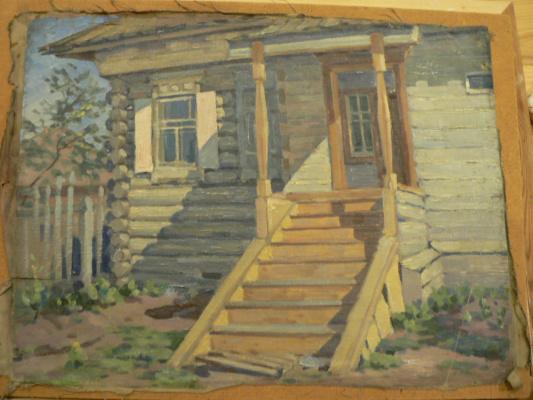Karl Fritsevich Valdman. House with porch