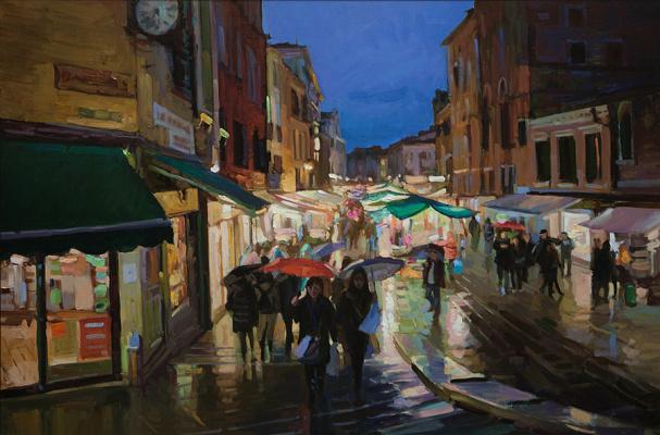 Sergey Alexandrovich Ulyanovskiy. Rain in Venice