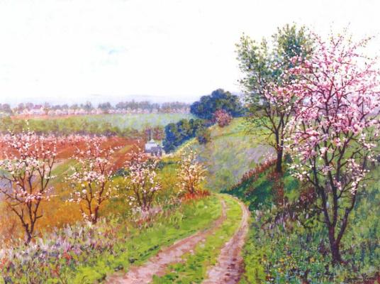 Теодор Уорес. Дорога с цветущими деревьями