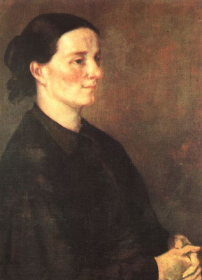 Gustave Courbet. Profile of a woman in black