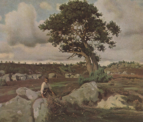 Camille Corot. Fontainebleau Forest. Oak