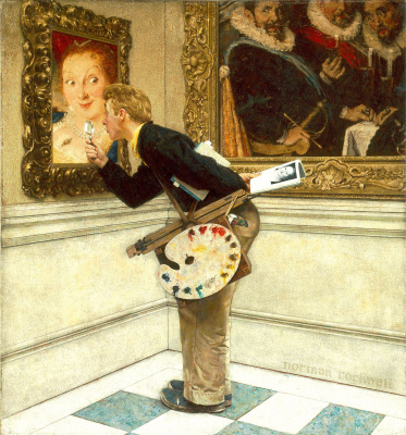 Norman Rockwell. Art critic