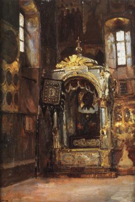 Василий Дмитриевич Поленов. Успенский собор. Рака митрополита Ионы