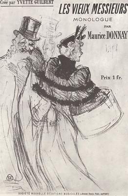 """Henri de Toulouse-Lautrec. Poster """"The old men"""""""