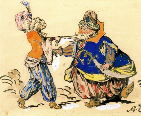 Alexander Nikolaevich Benoit. Oriental costumes