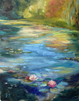 Anna Peregudova. Old pond