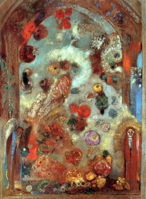 Odilon Redon. Stained glass window (Allegory)