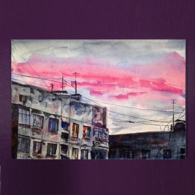 Ezik Garta. Evening In Shades Of Pink №1