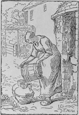 Жан-Франсуа Милле. Женщина, наливающая воду из ведра