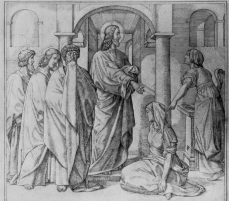 Фердинанд Оливье. Христос у Марии и Марфы