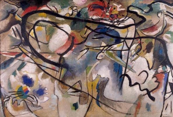 """Wassily Kandinsky. Sketch for """"Composition V"""""""