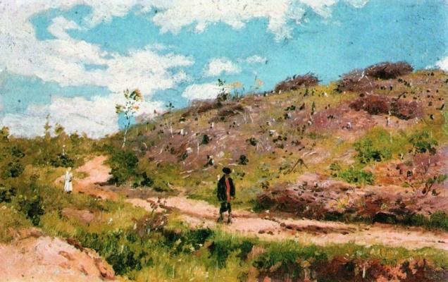 Ilya Efimovich Repin. Summer landscape in Kurskaya Guberniya. Etude