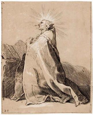 Абрахам Блумарт. Коленопреклоненный святой