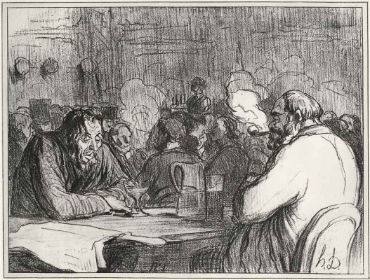 Honore Daumier. Just wine brings people together