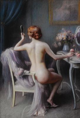 Dolphin Angolra. Nude with mirror