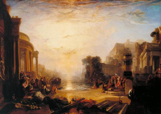 Joseph Mallord William Turner. Sunset Carthaginian Empire
