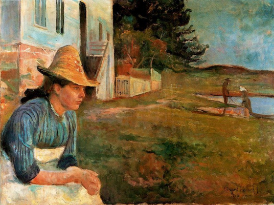 Edvard Munch. Late in the evening