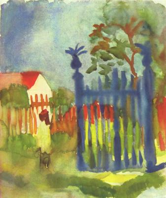August Macke. Garden gate