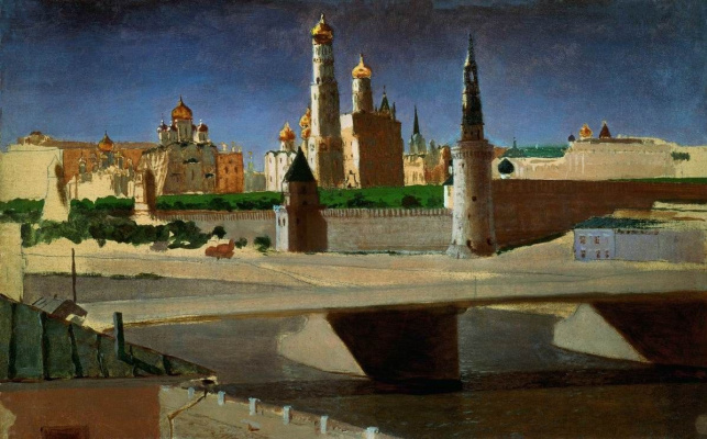 Arkhip Ivanovich Kuindzhi. Moscow. View of the Kremlin from the Zamoskvorechye