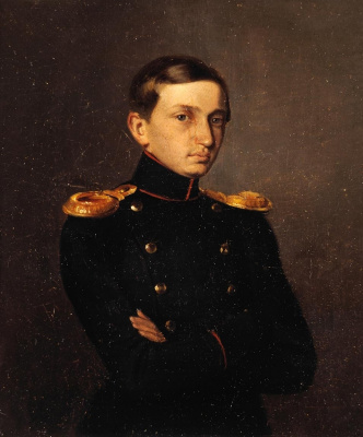 Pavel Andreevich Fedotov. Portrait of Mikhail Petrovich Zhdanovich II