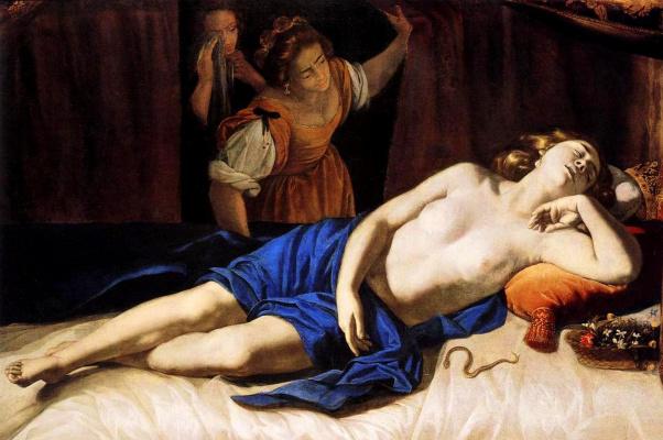 Артемизия Джентилески. Клеопатра