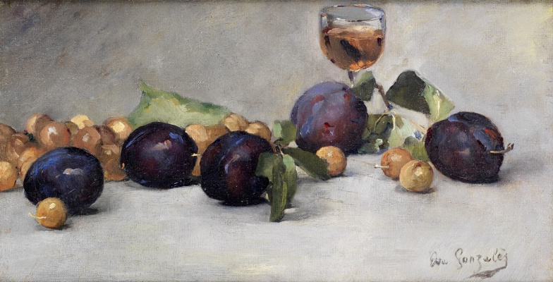 Eva Gonzalez. Still life with plums