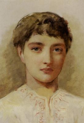 Edwin Longsden Long. Young girl