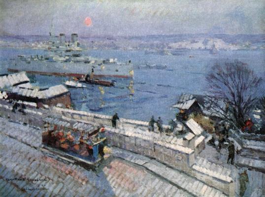 Konstantin Korovin. Sebastopol in the winter