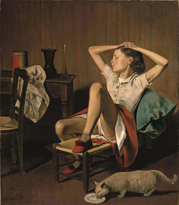 Balthus (Balthasar Klossovsky de Rola). Dreaming Teresa