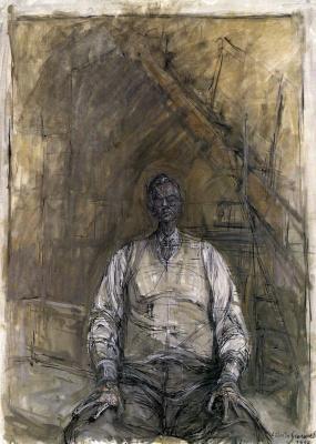 Альберто Джакометти. Портрет Дэвида Томпсона