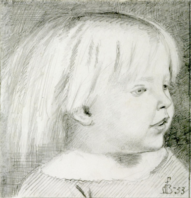 Ford Madox Brown. Portrait of Cathy Madox brown at the age of three years
