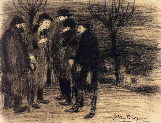 Pablo Picasso. Bohemia (group of artists)