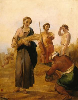Джордж Фредерик Уоттс. Руфь и Вооз. 1835-1837