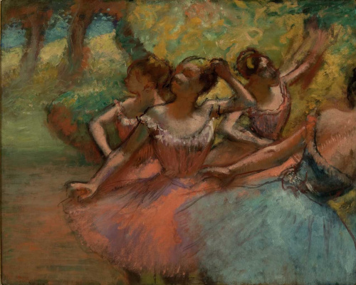 Четыре балерины на сцене