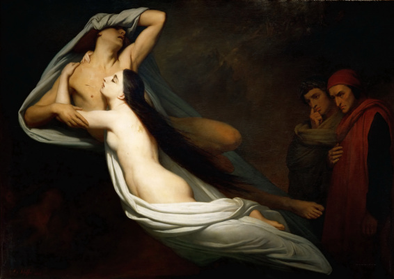 Ari Schaeffer. Dante and Virgil meet the ghosts of Francesca da Rimini and Paolo in the underworld