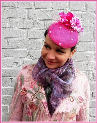 "Natalia Vladimirovna Solntseva. Hat ""Raspberries with cream"""
