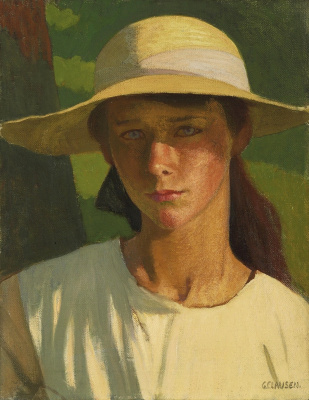 George Clausen. Tanned girl