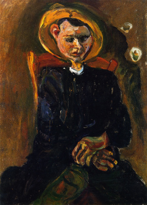 Haim Solomonovich Soutine. Boy with yellow hat