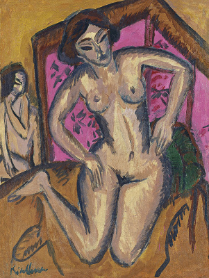 Ernst Ludwig Kirchner. Nude woman