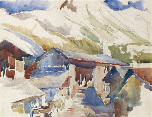 Giovanni Giacometti. The village in the mountains, Maloja