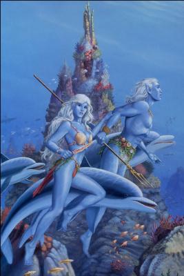 Ларри Элмор. Под водой