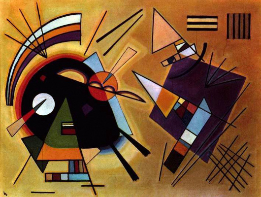 Wassily Kandinsky. Black and purple