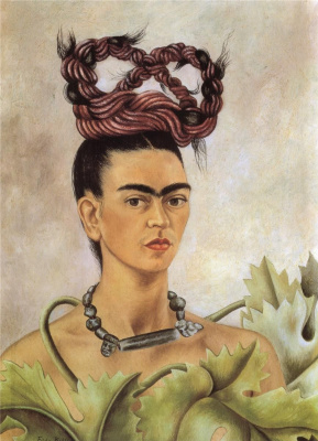 Frida Kahlo. Self-portrait with a scythe