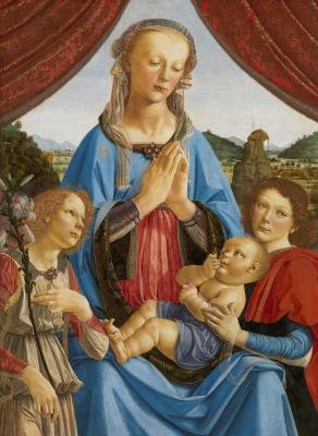 Андреа дель Вероккьо. Madonna with two angels